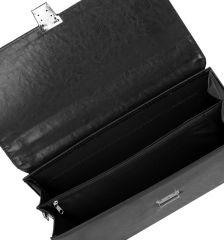 Aktovka REAbags 8002 - černá/nikl E-batoh