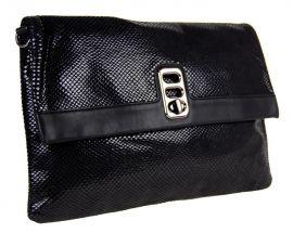 Černá hadí kombinovaná kabelka 1227-BB