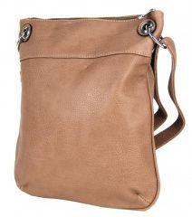 Dámská crossbody kabelka se srdíčky G003 hnědá Tapple E-batoh