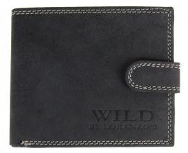 Pánská peněženka z broušené kůže WILD 998 tmavě šedá