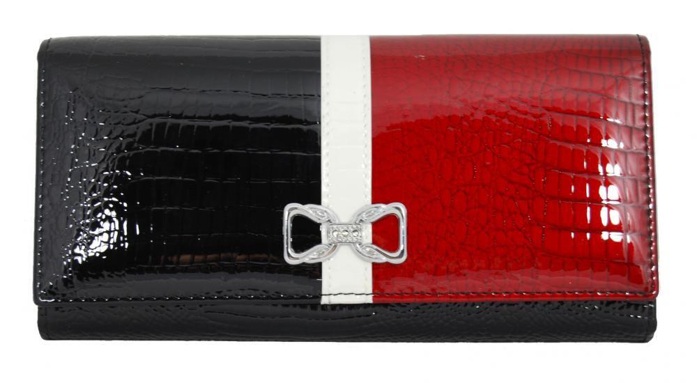 Dámská kroko kožená peněženka v krabičce Cossroll A17-5242 černá E-batoh
