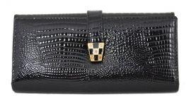 Dámská kroko kožená peněženka v krabičce Cossroll 03-5242-1 černá