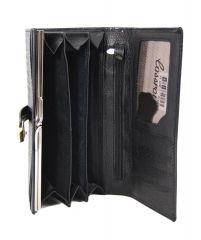 Dámská kroko kožená peněženka v krabičce Cossroll 03-5242-1 černá E-batoh