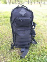 Army batoh VOLUNTEER přes jedno rameno velký black E-batoh