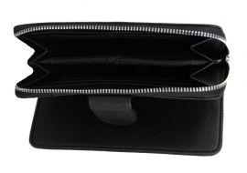 Praktická dámská zipová peněženka černá FD-004 NEW BERRY E-batoh