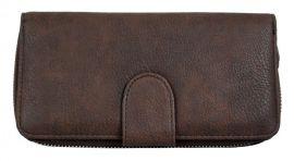 Praktická dámská zipová peněženka FD-004 coffee
