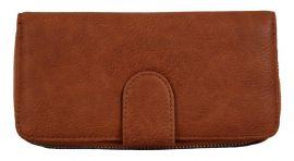Praktická dámská zipová peněženka FD-004 hnědá