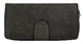 Praktická dámská zipová peněženka FD-004 šedá
