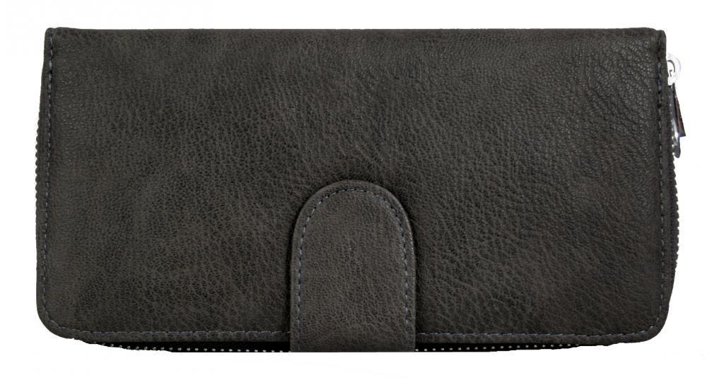 Praktická dámská zipová peněženka FD-004 šedá New Berry E-batoh