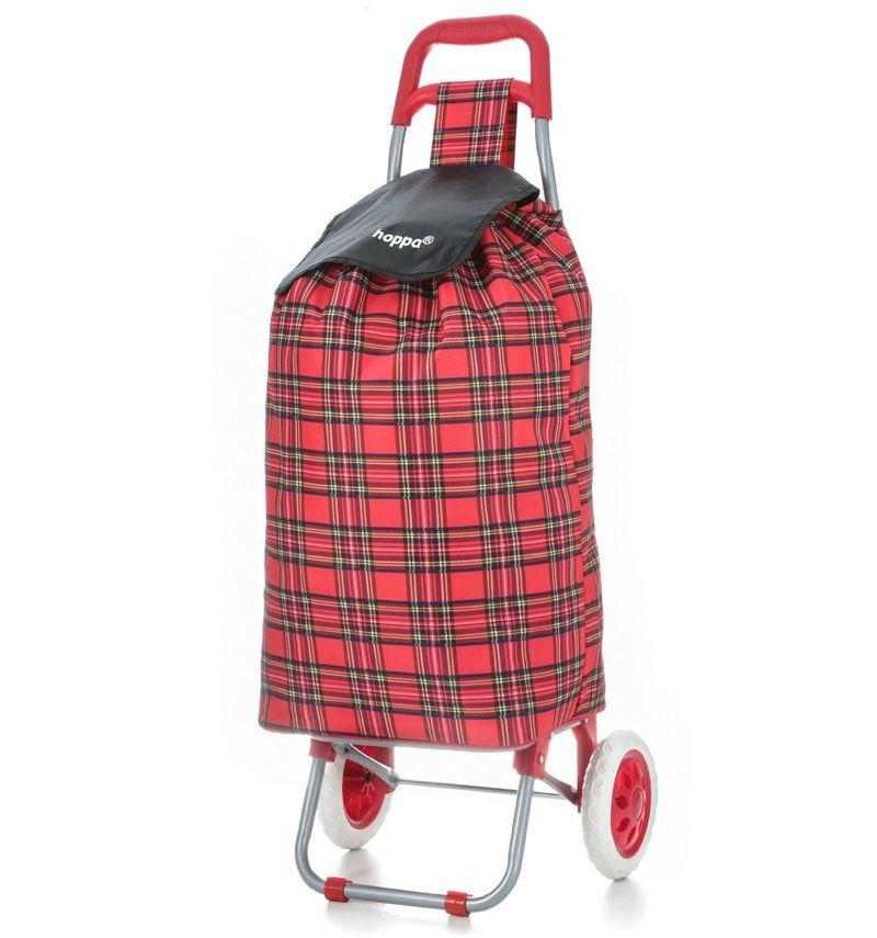 Nákupní taška na kolečkách HOPPA ST-145 - červená