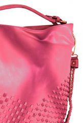 Unikátní kombinovaná kabelka Tapple 3091 růžovo-červená E-batoh