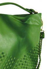 Unikátní kombinovaná kabelka Tapple 3091 trávová zelená E-batoh