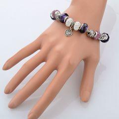 barevný náramek ocel s krystaly E-batoh
