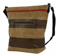 Crossbody kabelka z broušené kůže TH2035 NEW BERRY E-batoh