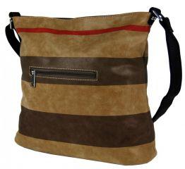 Crossbody kabelka z broušené kůže TH2036 NEW BERRY E-batoh