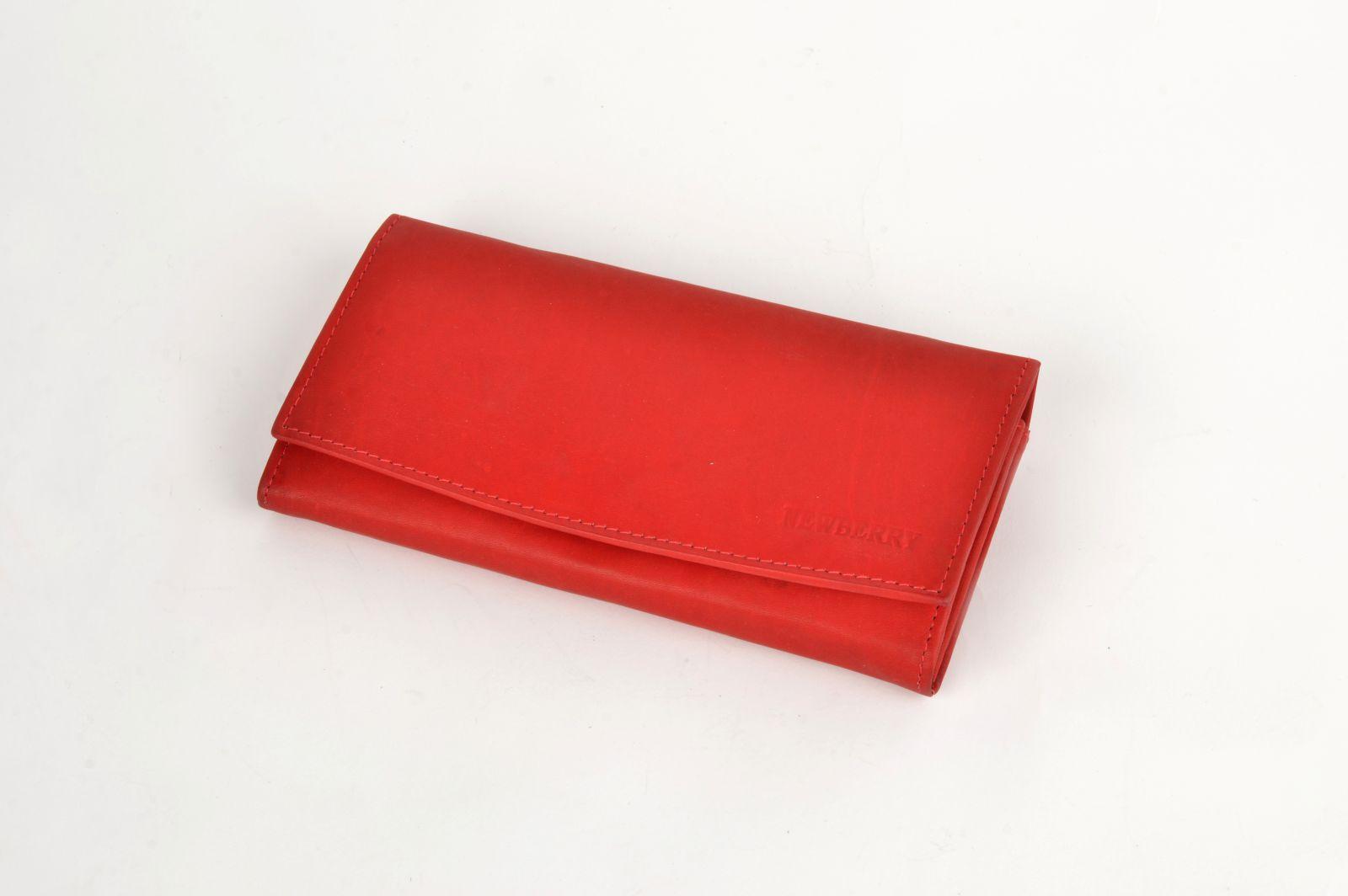 Dámská kožená peněženka Newberry 848 červená E-batoh