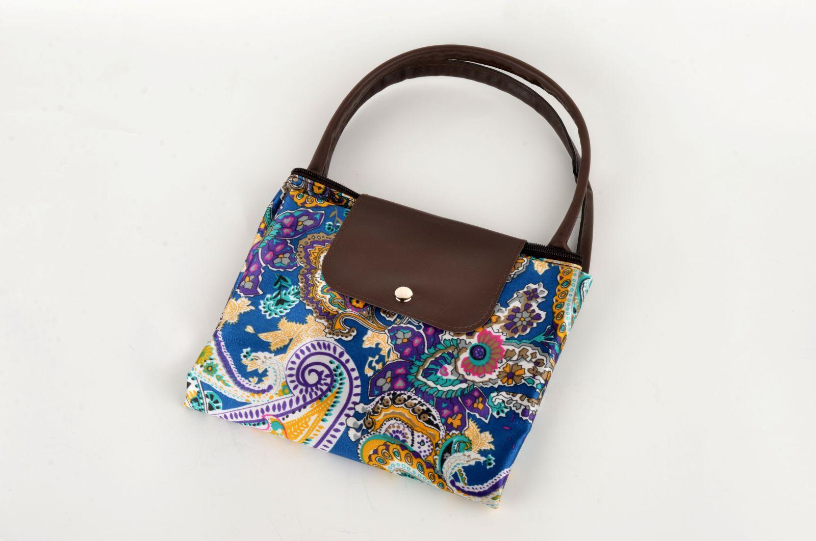 Nákupní skládací taška modrá