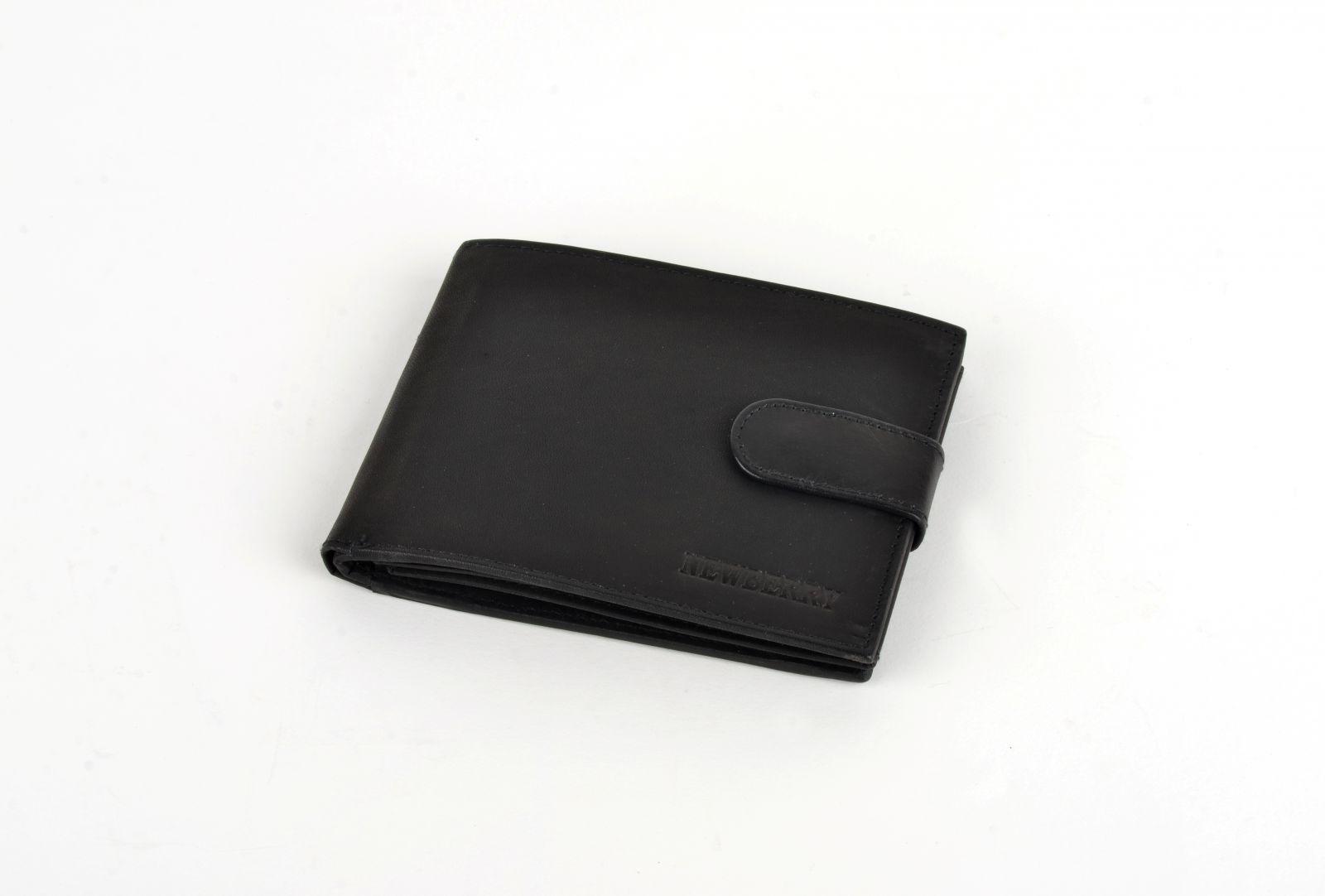 Pánská peněženka z vepřové kůže New Berry 863 černá