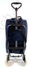 Nákupní termo taška-batoh na kolečkách modrá E-batoh