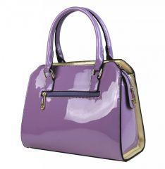 Fialová kabelka do ruky s béžovým pruhem A34176 Moda Handbag E-batoh 44c501bf461