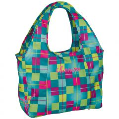 Chiemsee Beachbag Karo blue cabaret