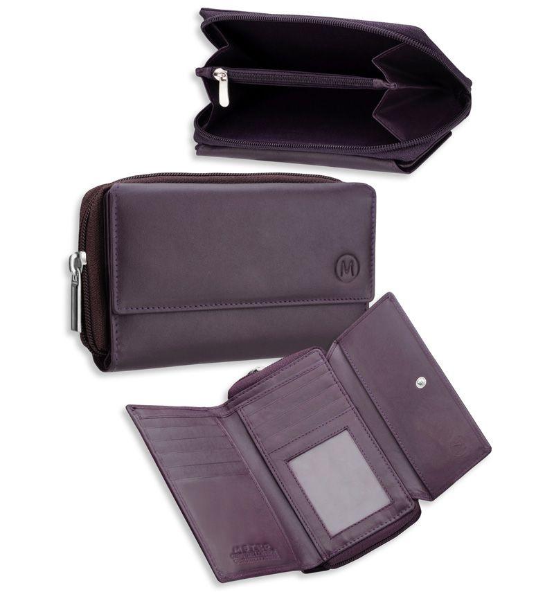 Dámská kožená peněženka METRO P03 - černá E-batoh