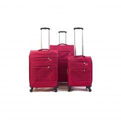 Trolley-CASE TC-883 4w sada 3 kufru červené