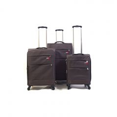 Trolley-CASE TC-883 4w sada 3 kufru hnedé