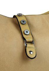 Velká dámská crossbody kabelka L2037 hnědo-béžová NEW BERRY E-batoh