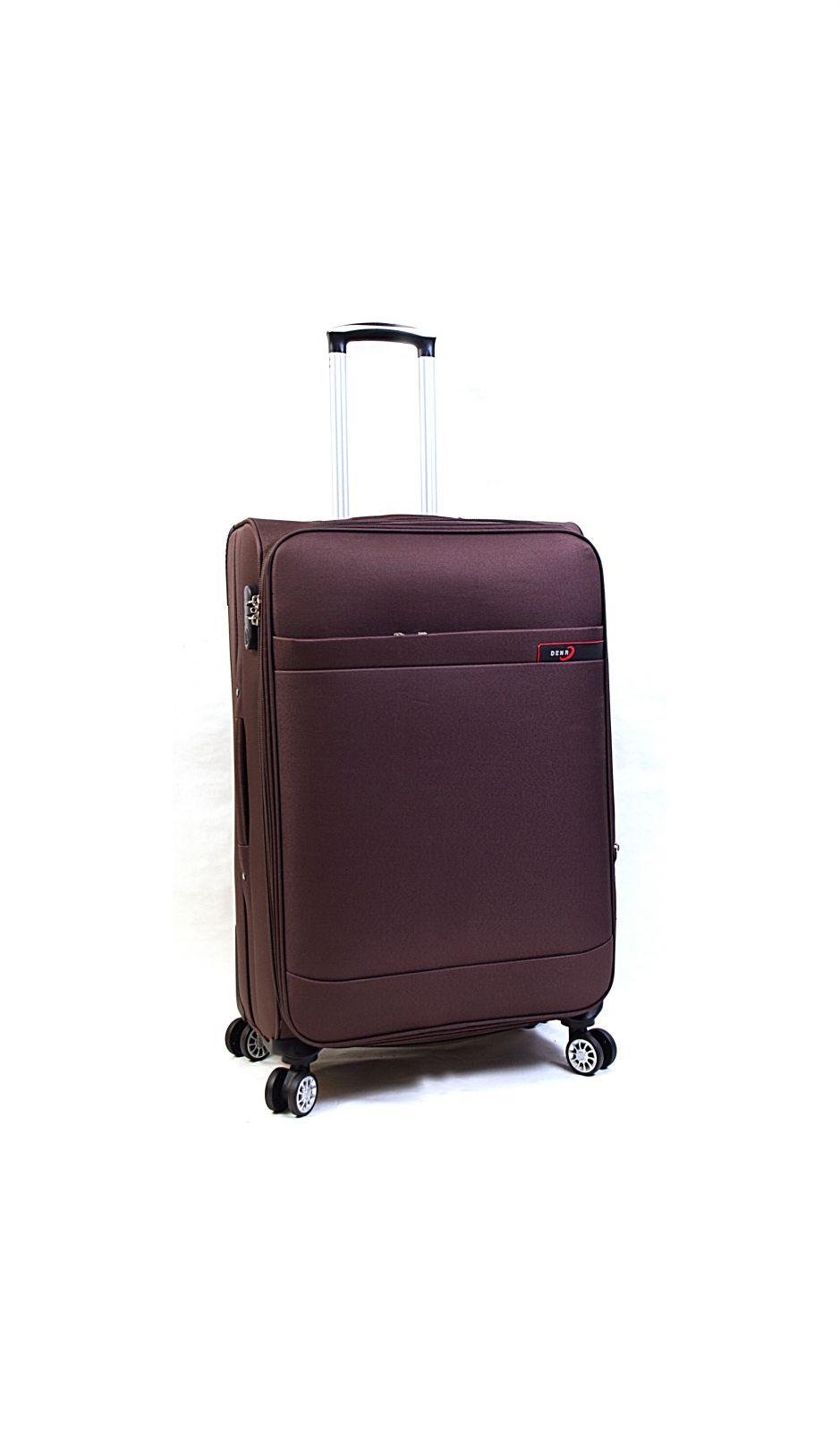 Extra lihght Trolley-CASE TC-882 4w velký hnědý E-batoh