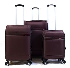 Trolley-CASE TC-882 4w sada 3 kufru hnědé