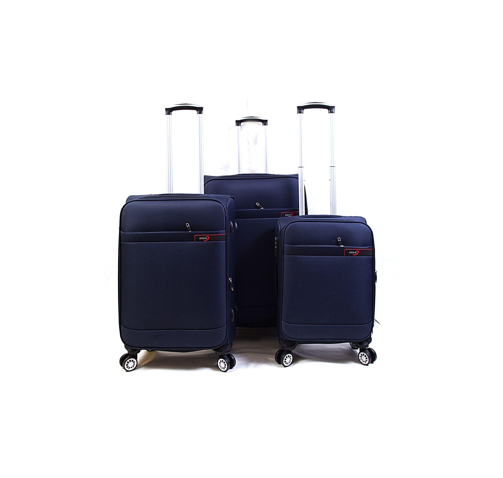Trolley-CASE TC-882 4w sada 3 kufru modrý