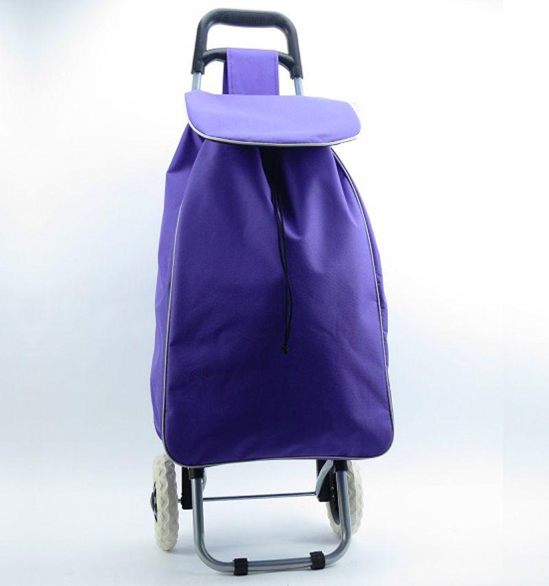 Nákupní taška na kolečkách METRO ST-004 - fialová