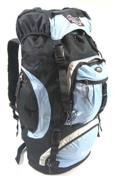 Cestovní KROSNA - ROLAN CB-56 70l svetlo modrá, batoh na hory
