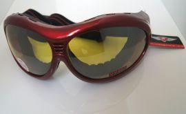 Zimní brýle na snowboard a lyžovaní  PILOT červené