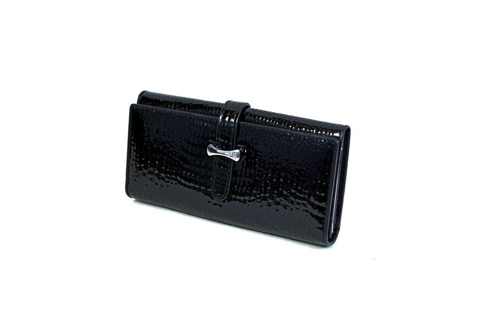 Dámská kožená peněženka v krabičce Cossroll K07-5242 BLACK