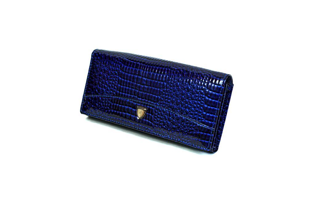 Dámská kožená peněženka v krabičce Cossroll E18-5242 BLUE