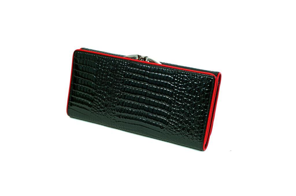 Dámská kožená peněženka v krabičce HASSION A-00383 Black