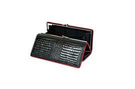 Dámská kožená peněženka v krabičce HASSION A-00383 Black E-batoh