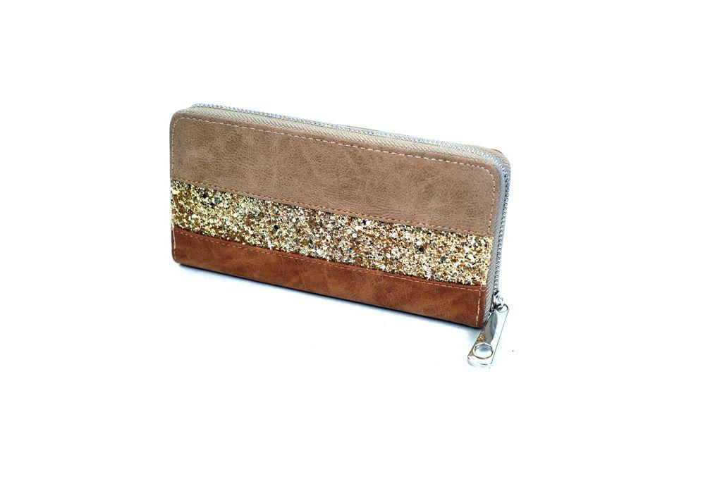 Dámská peněženka MML0852 hnědá E-batoh