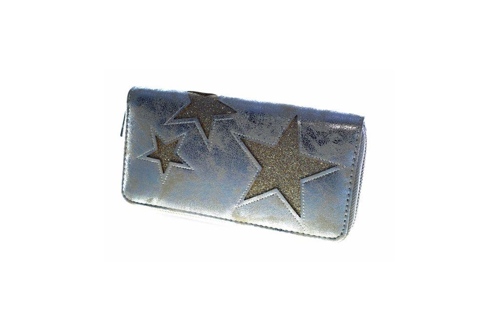 Dámská peněženka STARS silver/gold