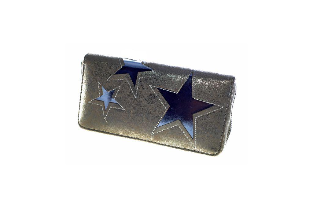 Dámská peněženka STARS gold/silver E-batoh