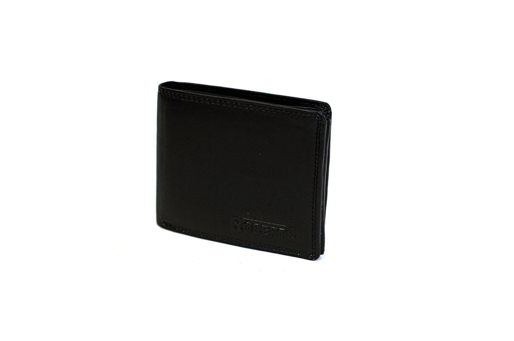 Pánská peněženka z vepřové kůže ROBERTO černá