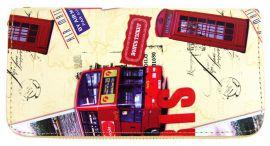 Moderní peněženka s motivem Paříže T519 béžová