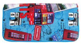 Moderní peněženka s motivem Paříže T519 modrá
