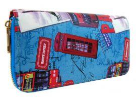 Moderní peněženka s motivem Paříže T519 modrá NEW BERRY E-batoh