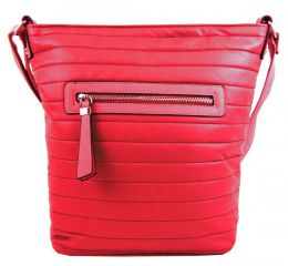 Velká prošívaná crossbody kabelka YH1608 červená