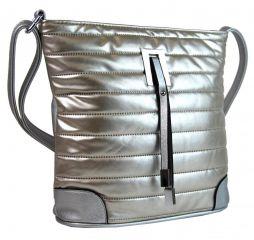 Elegantní prošívaná crossbody kabelka YH1604 stříbrná