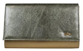 Luxusní zlatá dámská listová kabelka SP100 GROSSO