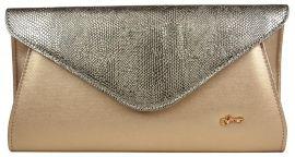 Zlatá listová společenská kabelka SP126 GROSSO